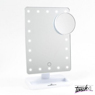 Зеркало с подсветкой Touch XL Dimmable LED Makeup Mirror With Suction 5X