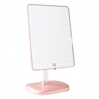 Зеркало с подсветкой Impressions Vanity Touch Pro LED Makeup Mirror with Bluetooth Audio+Speakerphone & USB Charger (Rose Gold)