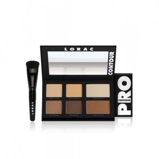 Набор для цветокорекции лица LORAC PRO Contour Palette & PRO Contour Brush