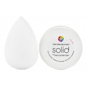 Набор Beautyblender Pure + средство для очищения спонжа Mini Solid Cleanser