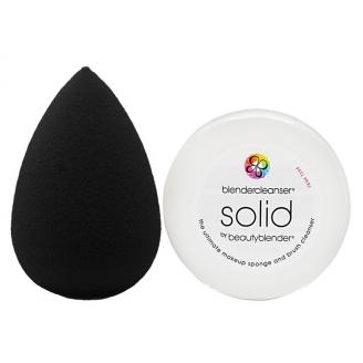 Набор Beautyblender Pro + средство для очищения спонжа Mini Solid Cleanser