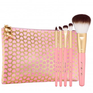Набор кистей в косметичке Too Faced PRO-ESSENTIAL TEDDY BEAR HAIR BRUSH SET