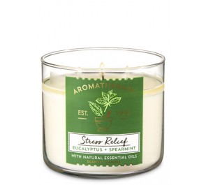Парфюмированная свеча Bath & Body Works 3-Wick Candle - EUCALYPTUS + SPEARMINT