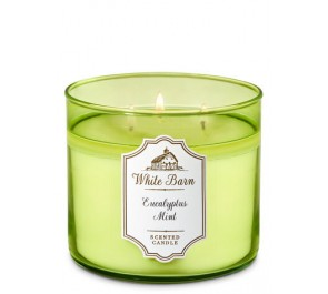 Парфюмированная свеча Bath & Body Works® White Barn 3-Wick Candle - EUCALYPTUS MINT