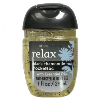 Антибактериальный гель для рук Bath and Body Works PocketBac Aromatherapy Relax Black Chamomile