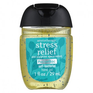 Антибактериальный гель для рук Bath and Body Works PocketBac Stress Relief Eucalyptus Spearmint