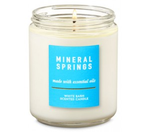 Парфюмированная свеча Bath & Body Works Single Wick Candle - MINERAL SPRINGS