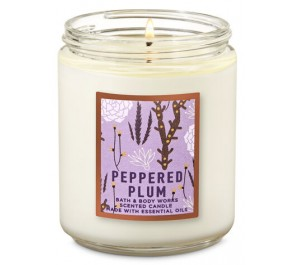 Парфюмированная свеча Bath & Body Works Single Wick Candle - PEPPERED PLUM