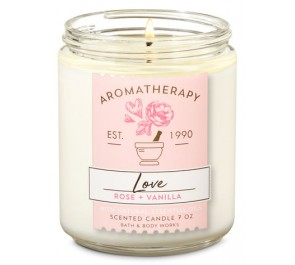 Парфюмированная свеча Bath & Body Works Single Wick Candle - ROSE + VANILLA