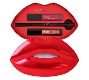 Лимитированный набор для губ Huda Beauty Contour & Strobe Liquid Lip Set Heartbreaker, Shameless