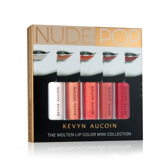 Набор жидких помад  KEVYN AUCOIN NUDEPOP The Molten Lip Color Mini