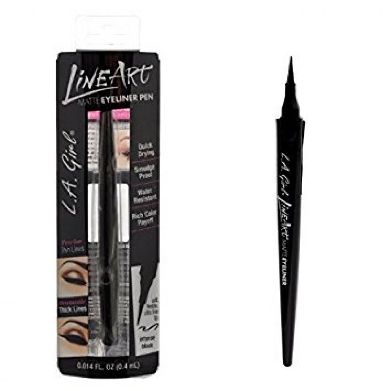 Line Art Matte Eyeliner : Матовая подводка для глаз la girl matte line art eyeliner