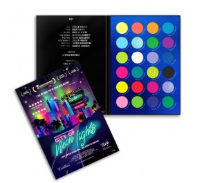Палетка теней RUDE City of Neon Lights - 24 Vibrant Pigment & Eyeshadow Palette