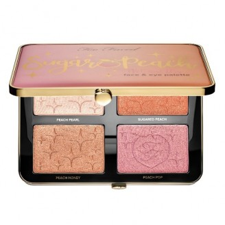 Палетка для макияжа Too Faced Sugar Peach Wet and Dry Face & Eye Palette - Peaches and Cream Collection